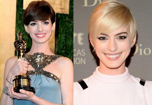 Anne Hathaway de brune � blonde