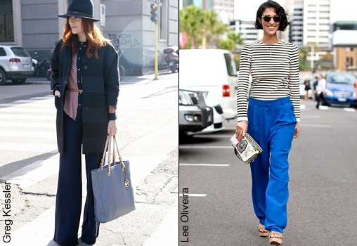 Pantalon large comment le porter tendances de mode for Que porter avec du gris