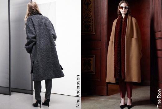 Escarpins + manteau oversize