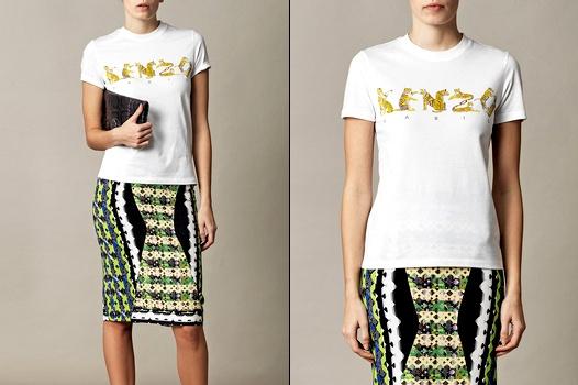 Tee-shirt � logo Kenzo