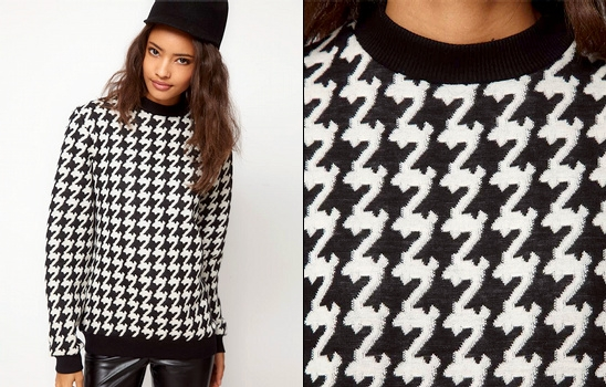 Sweat pied-de-poule Asos