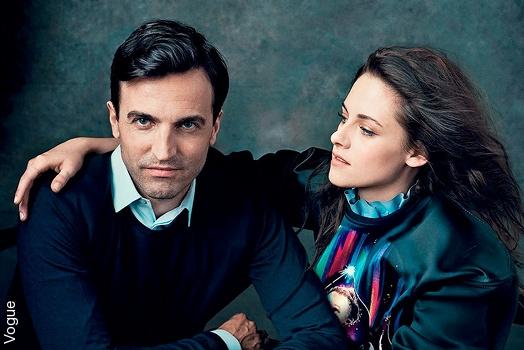 Nicolas Ghesqui�re et Kristen Stewart