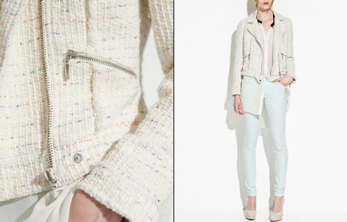 Perfecto en tweed Zara
