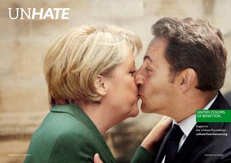 Benetton Unhate - Angela Merkel/Nicolas Sarkozy