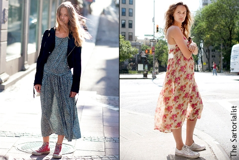 Converses + robe = le bon mix ? - Tendances de Mode