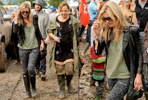 Kate Moss à Glastonbury