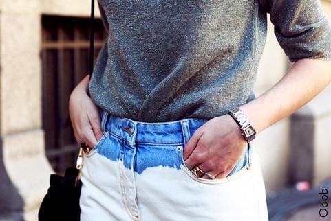 Le jean large blanc