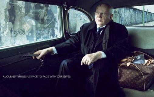 Mikhaïl Gorbatchev pour Louis Vuitton