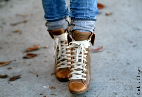 Bottines compens�es Chlo�