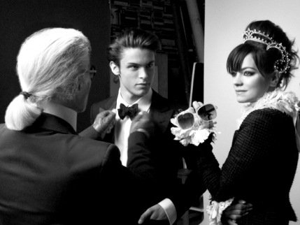 Karl Lagerfeld, Baptiste Giabiconi et Lily Allen