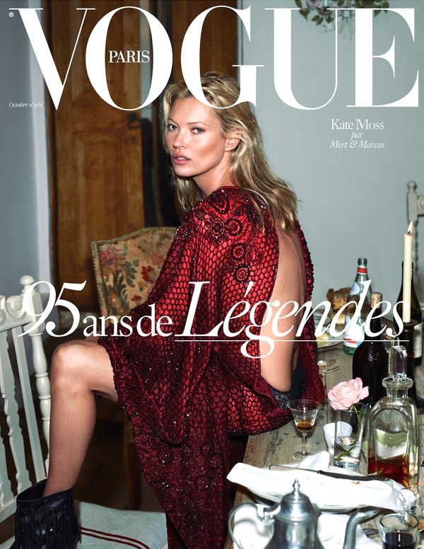 Kate Moss pour Vogue Paris