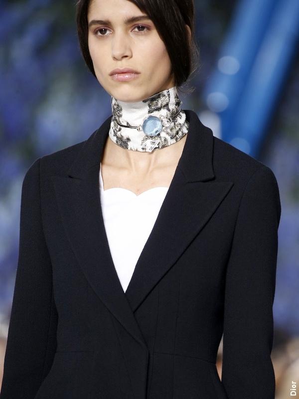 Défilé Dior - Look noir et blanc