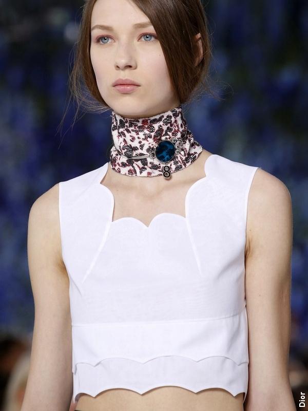 Défilé Dior - Look blanc