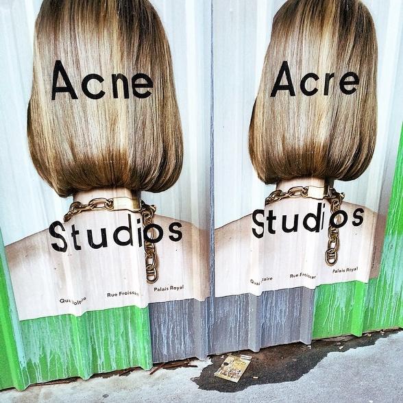 Affiche publicitaire Acne
