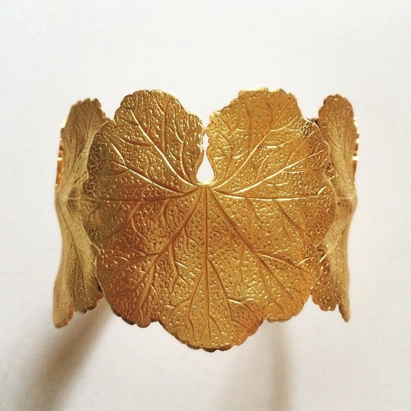 Bracelet manchette doré à l'or fin