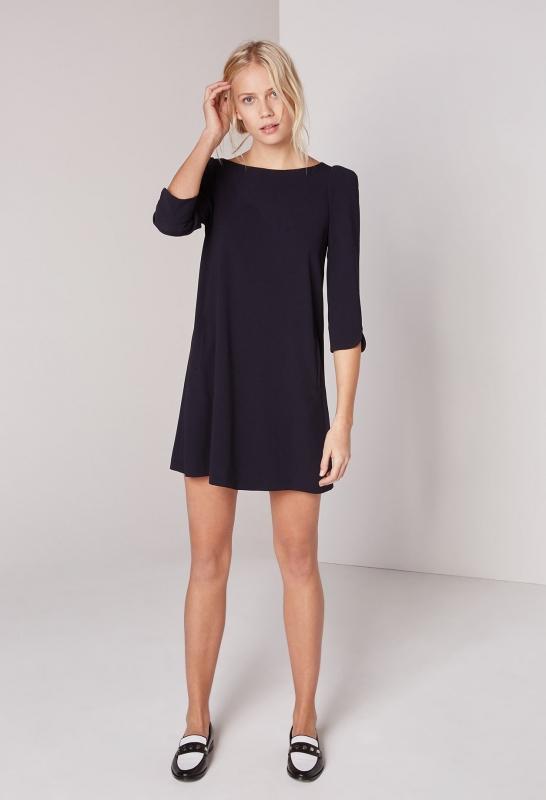 robe bleu marine comment la porter en hiver tendances de mode. Black Bedroom Furniture Sets. Home Design Ideas
