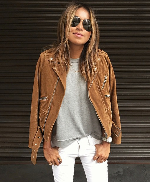 Tan Leather Jacket Womens