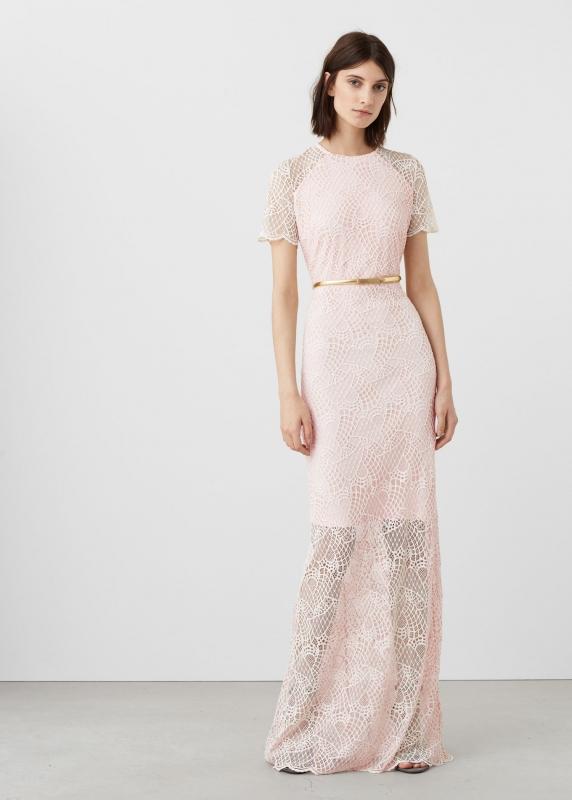 robe longue rose ple tenue pour demoiselle d 39 honneur. Black Bedroom Furniture Sets. Home Design Ideas