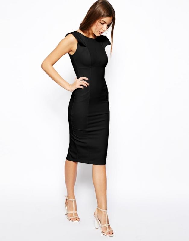 robe fourreau noire