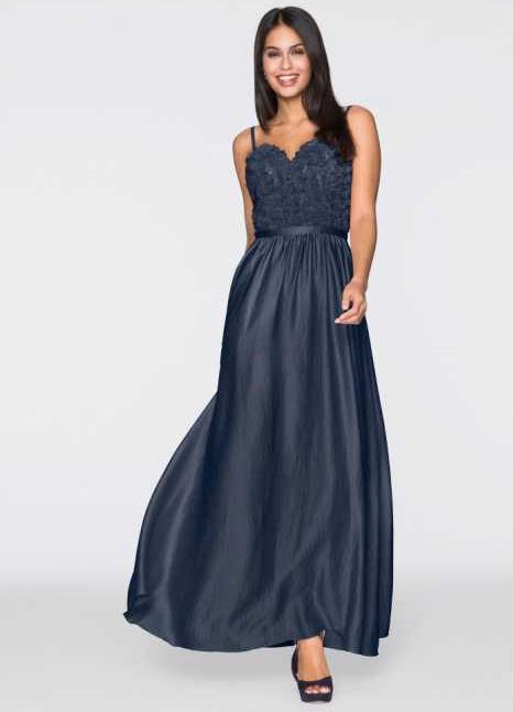 robe longue bleu marine avec quelles chaussures la porter tendances de mode. Black Bedroom Furniture Sets. Home Design Ideas