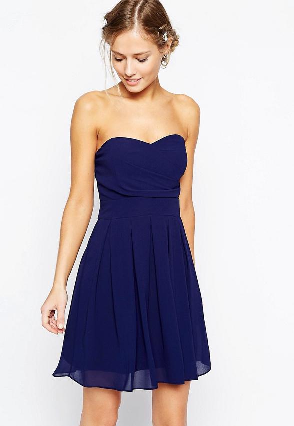 robe bustier bleue comment la porter un mariage