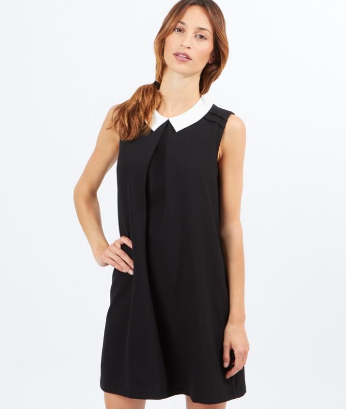 robe sans manches col claudine comment la porter tendances de mode. Black Bedroom Furniture Sets. Home Design Ideas