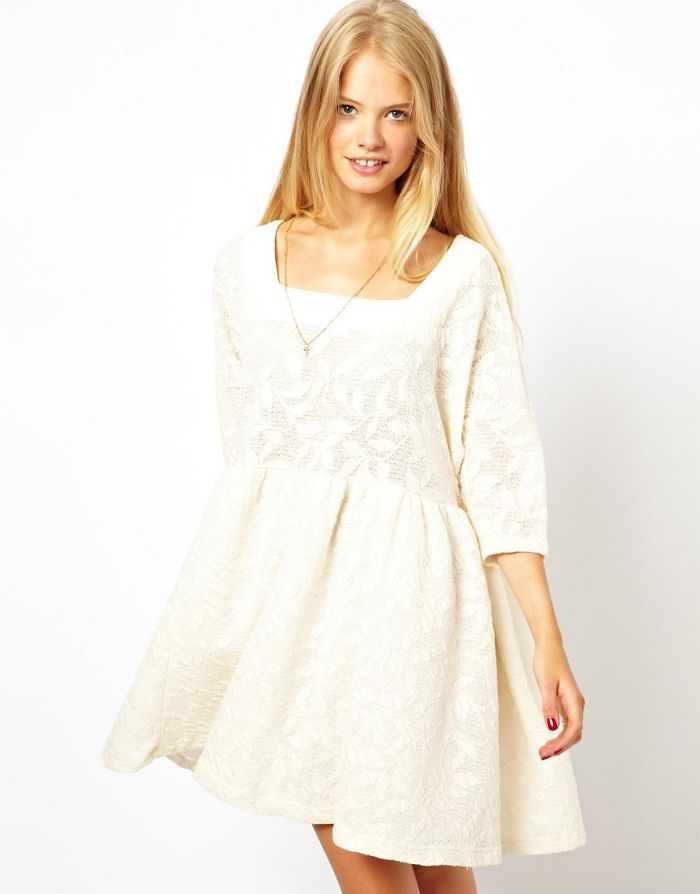 Comment porter robe dentelle hiver