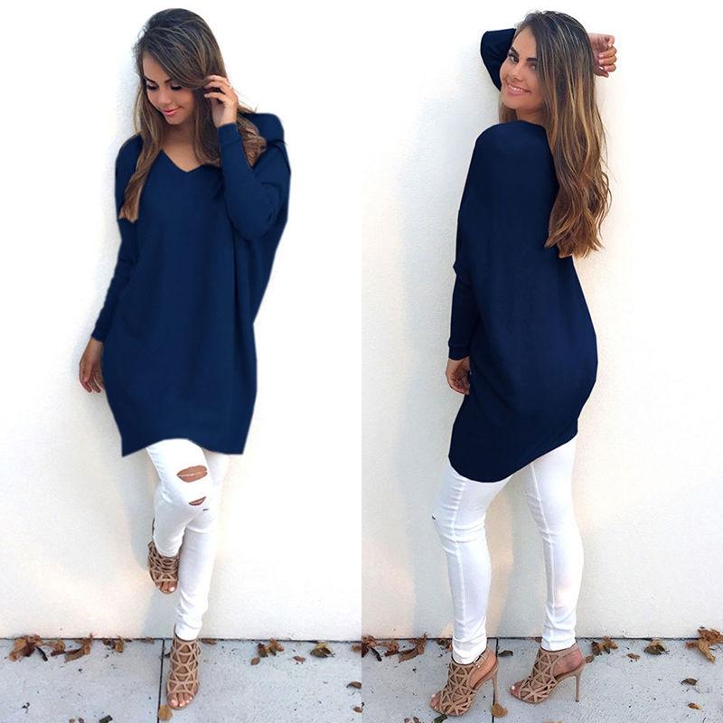 Robe pull bleue marine