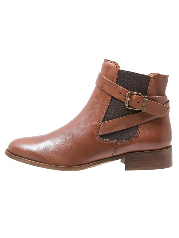 Boots marron à sangles et talon Zign