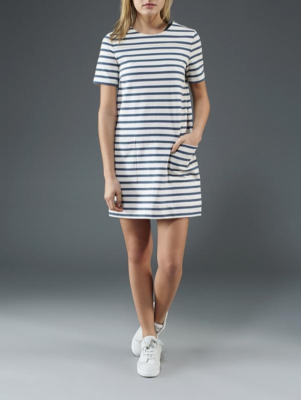 b01c1450ae Robe à Rayures Bleu et Blanc : Comment la Porter ? - Tendances de Mode