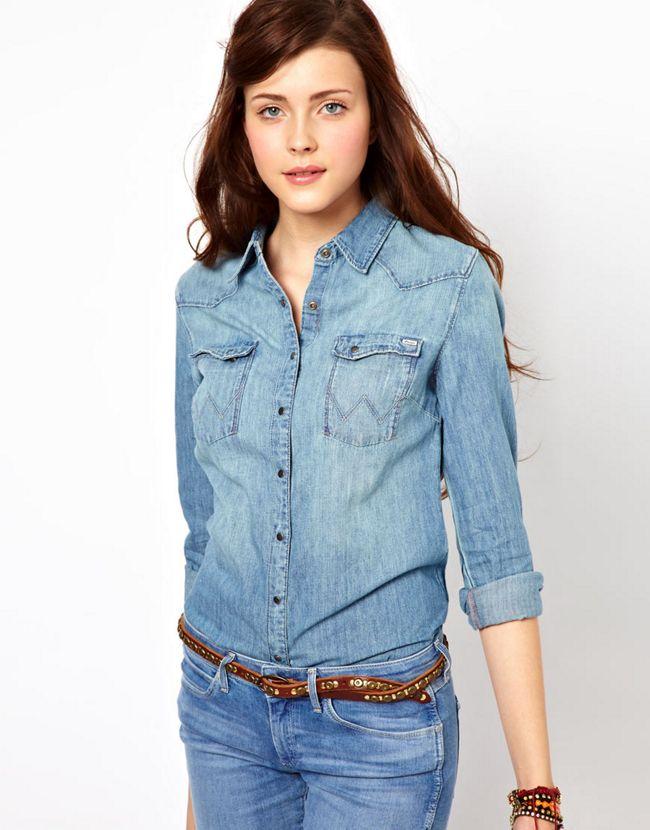 Chemise en jean comment la porter 40 ans tendances - Chemise en jean femme comment la porter ...