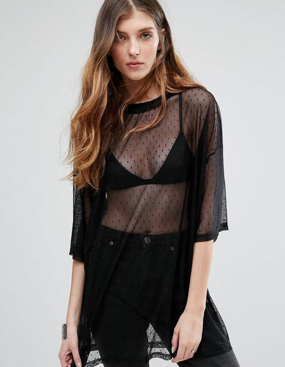 tee shirt transparent comment le porter tendances de mode. Black Bedroom Furniture Sets. Home Design Ideas