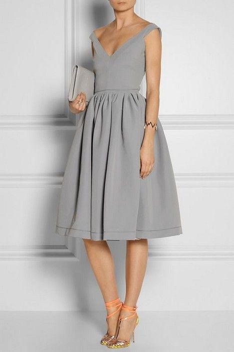 robe grise comment la porter un mariage tendances de mode. Black Bedroom Furniture Sets. Home Design Ideas