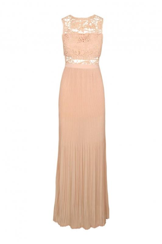 robe longue rose p le comment la porter un mariage tendances de mode. Black Bedroom Furniture Sets. Home Design Ideas