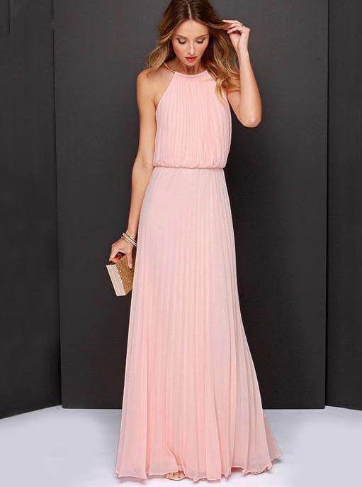 Quelle chaussure avec robe longue rose