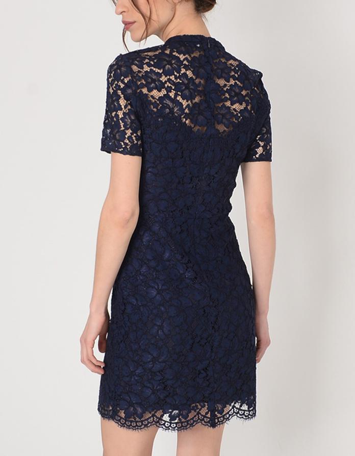 Quel gilet porter avec une robe bleu marine tendances de mode - Avec quoi porter une robe bleu marine ...