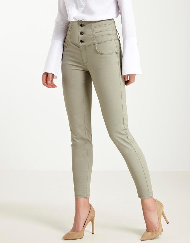 pantalon taille haute kaki avec quoi le porter tendances de mode. Black Bedroom Furniture Sets. Home Design Ideas