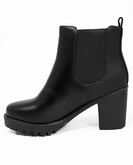 bottines noires talons comment les porter tendances de mode. Black Bedroom Furniture Sets. Home Design Ideas