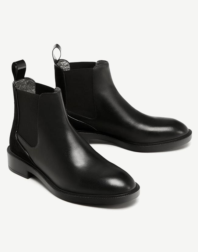 tenue avec bottines noires plates