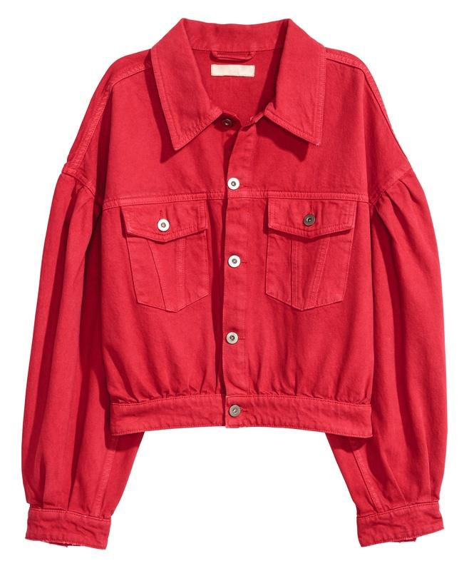 Veste en jean oversize rouge